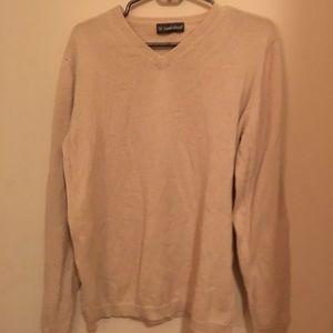 ✨ Hawkshead Cream Men V-neck Comfy Sweater Medium